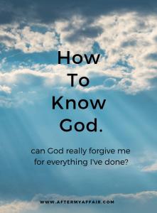 can God forgive me?