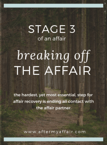 stages of an affair, ending an affair.