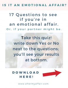 emotional affair questionnaire quiz
