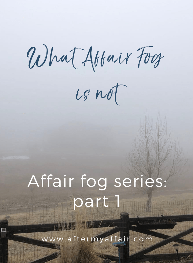 Affair Fog-What It Is Not - After My Affair