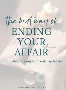 Sample Good-Bye Letter To Affair Partner - After My Affair