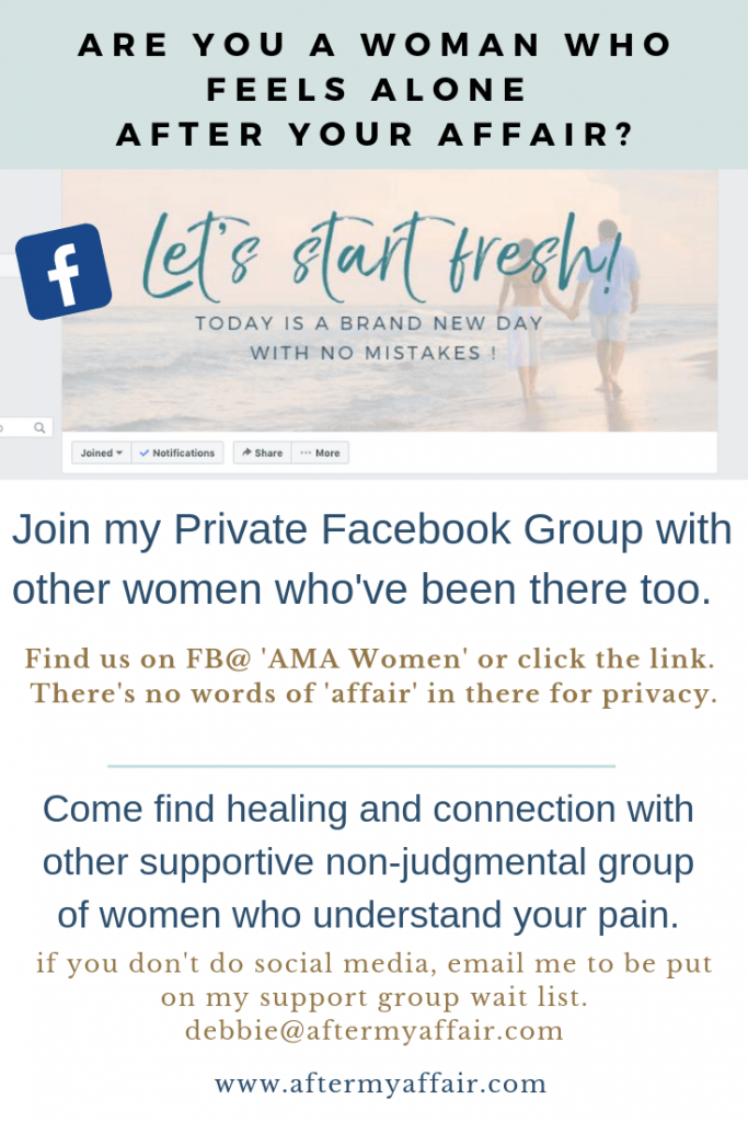 affair recovery private facebook group women