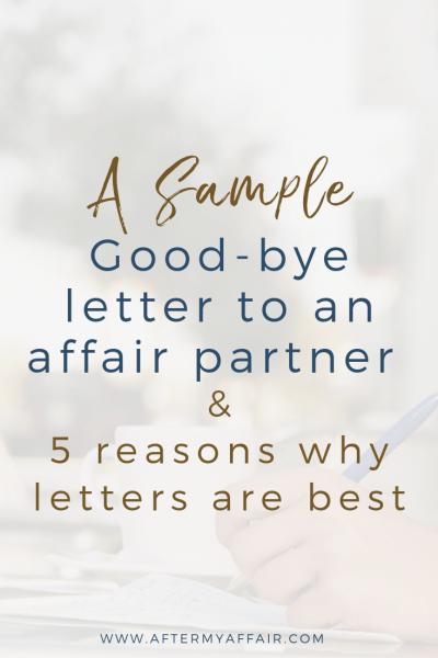 good-bye letter to affair partner