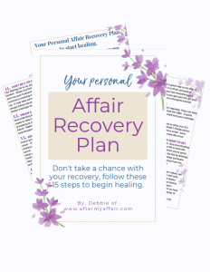 Affair Recovery Plan for betrayer
