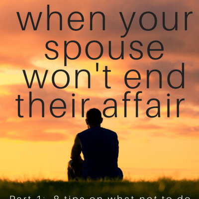What not to do when your spouse won't end their affair