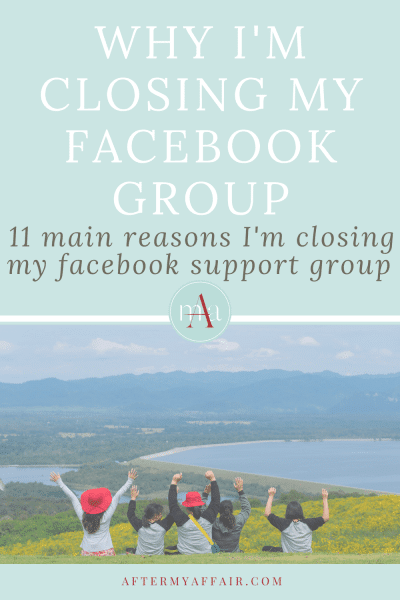 Why I'm closed me Facebook Group AMA Women